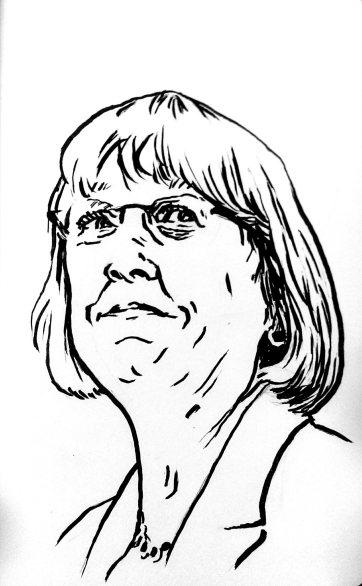 Patty Murray illustration process