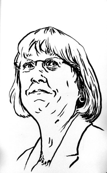 Patty Murray illustration process