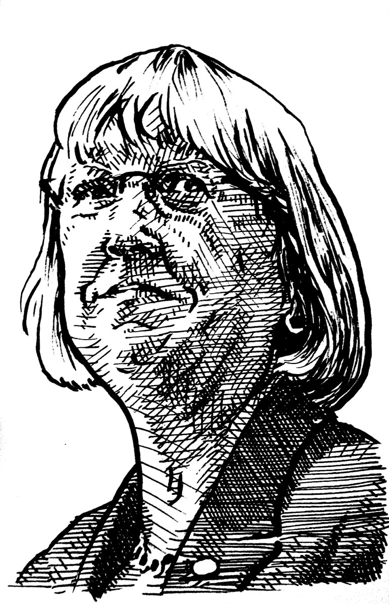 Patty Murray illustration black & white
